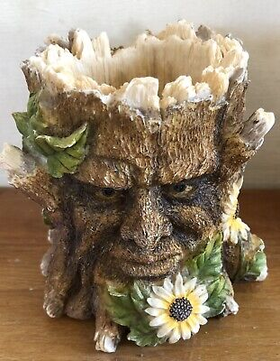 Latex Mould for making this Small Tree Face Candle Holder