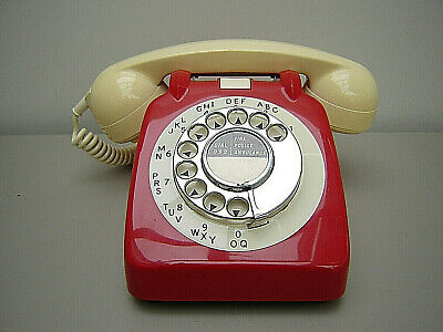 Vintage Retro 1966 Post Office Red Ivory GPO P.O 706 Telephone Restored Working