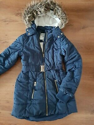 Girls Marks And Spencers Coat Age  9-10 Years Old. Blue.
