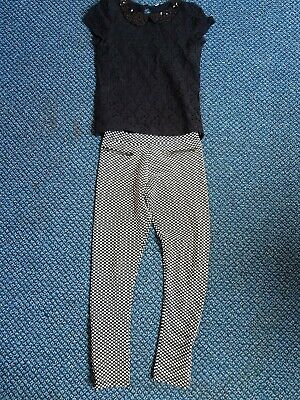 Girls Legging Outfit Age 9-10 Yrs M&S exc condition