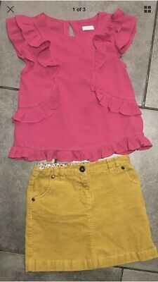 Next... John Lewis Girls Corduroy Skirt Outfit 7-8 Years VGC (for 122cm/7y)