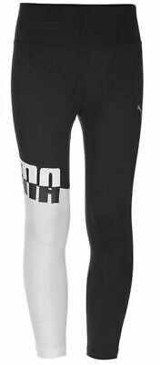 Puma Ace Leggings Black & White Junior Girls Size 11-12 *REF33*