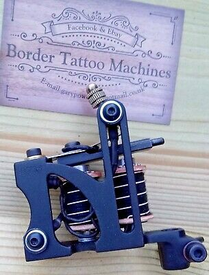 Border Tattoo Machine,Liner Custom Iron Black Frame Custom 7&Half Layer Coils