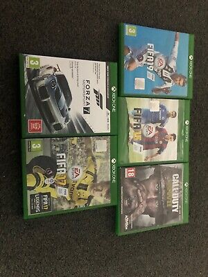 Xbox One Game Bundle Call Of Duty WWII Forza Fifa 19, 17