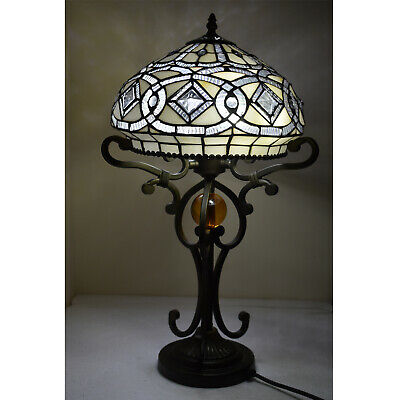 Tiffany Style Stained Glass Table Desk Bedside Home Decor Lamps Lamp Light UK