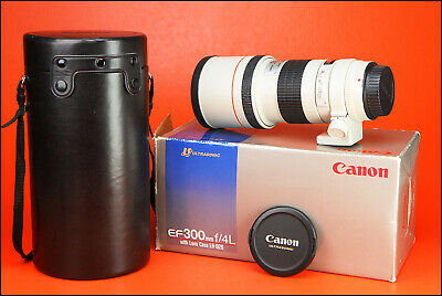 Canon EF 300mm F4 L Ultrasonic Manual Focus Only USM Lens With Caps, Case & Box
