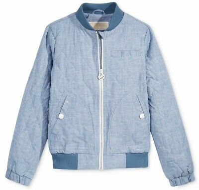 Michael Kors Kids Girls sky blue bomber Jacket Coat 5-6yrs BNWT Free P&P