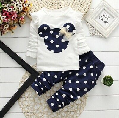 Baby/Toddler Girls Clothing Sets 12-18Months. Minnie Mouse 2 Pieces. Uk Seller