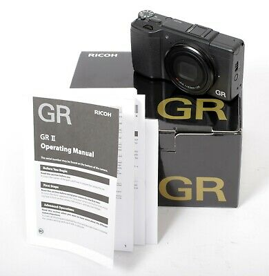 Ricoh GR II 16.2MP Digital Camera with Box + Battery + Charger + 64gb SD Card