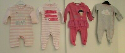Baby Girls Sleepsuits Babygrows All In Ones Up To 1 Month Next F&F Great Conditi