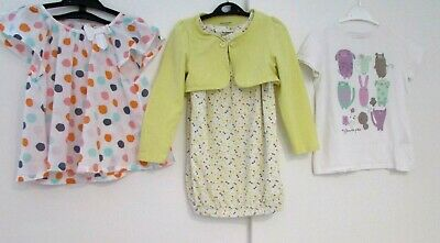 Girls Bundle Age 5 Years Tunic Top Dress & T-Shirt Vertbaudet Etc Good Condition