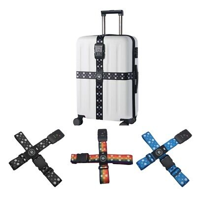 2 lot TSA Lock Long Cross Luggage Straps Suitcase Belts Baggage Packing Belt