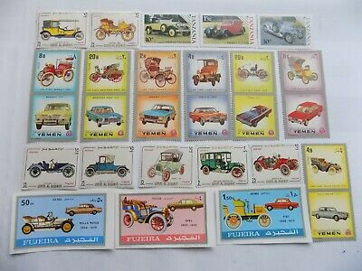 All MNH World Wide Topical Collection of CARS-AUTOMOTIVE stamps off paper-12-4