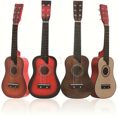 25 inch 6 String Wooden Acoustic Guitar Beginner Kids Musical Instrument Bag