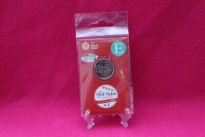 2018 UK Unc 10p coin A-Z  -Letter E English Breakin Royal Mint gift card