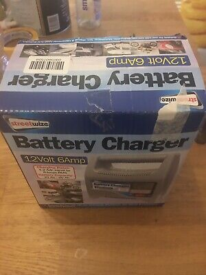 Streetwize Fully Battery Charger 6/12Volt 6 Amp Car Motorcycle.    Gift - New