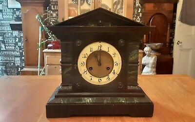 Antique Wooden German Mantel Clock
