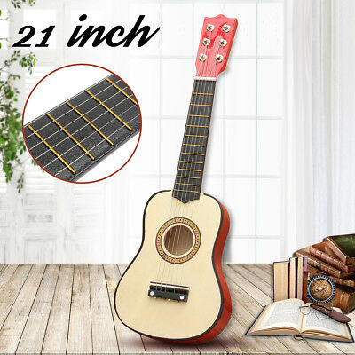 "21"" Beginners Practice Acoustic Mini Guitar 6 String Kid Gift Children Music toy"