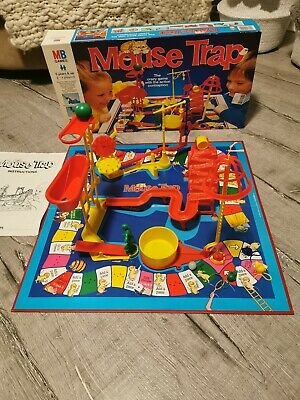 Vintage Mouse Trap Board Game MB Games 1996 100% Complete Long Box Edition