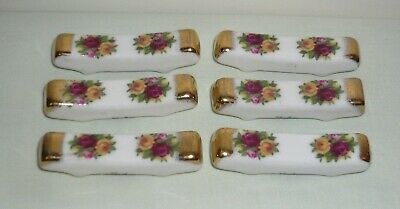 Royal Albert 'Old Country Roses' Bone China Knife Rests x 6