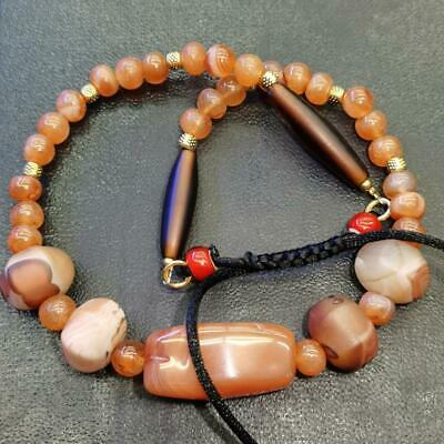Beautiful Necklace with Old Carnelian Agate stone Beads   # 67