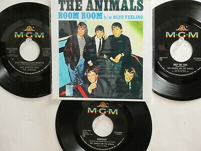 LOT OF 4 ' THE ANIMALS ' HIT 45's+1P(Copy)[Boom Boom/Blue Feeling]*  THE 60's!