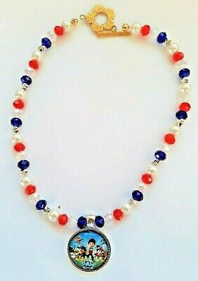 """Beautiful Paw patrol Necklace with all Characters 16"""" (handmade) beautiful  gift"""