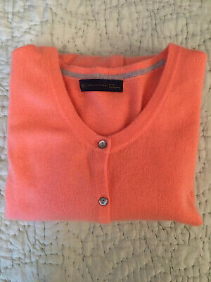 Coral Pure Cashmere Cardigan from Marks&Spencers Size 20