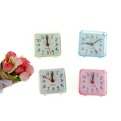 Square Small Cute Bed Compact Travel Quartz Beep Alarm Clock Cute Portable KV