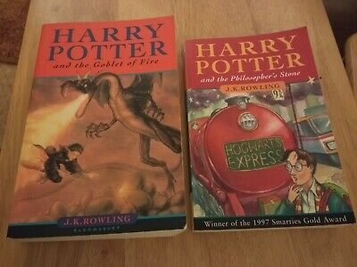 Two Harry Potter 1st Edition Books. Goblet of Fire + The Philosophers Stone.GC.