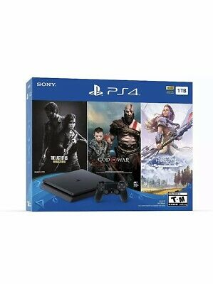 PlayStation 4 Slim ONLY ON BUNDLE (1TB) PS4 Console w/ Controller/brand New