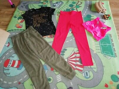 Girls Bundle Top, Sports Bra, Harem Trousers, Leggings, M&S Star Wars 10-11 Y