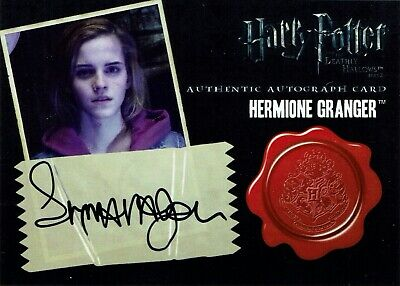 Harry Potter Deathly Hallows 2 Emma Watson Hermione Granger Autograph Auto Card