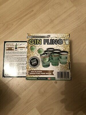 GIN FLING 16PC ADULTS PARTY PING PONG DRINKING GAME XMAS GIFT FUN GLASSES NEW