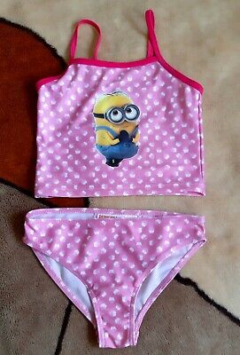 GIRLS PINK, Despicable Me Minion, TANKINI SWIMSUIT, Size: 3-4 years (98/104)