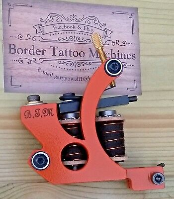 Border Tattoo Machine,Cut-Back Liner Custom Iron Frame 7&Half Layer 32Mm Coils
