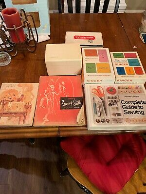 Vintage Singer Sewing Lot Monogrammer Buttonholer Flexi Stitch Books