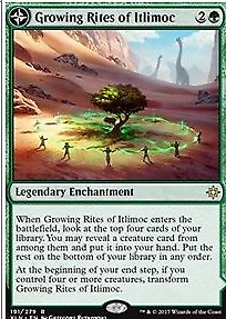 Growing Rites of Itlimoc. Ixalan. Magic the Gathering.