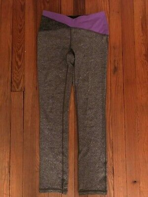 Girls Grey and Purple Reversible Ivivva Leggings