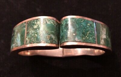Vintage Sterling Silver & Jade Taxco Mexico TS-63 Bracelet
