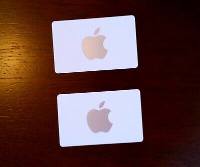 Apple Store Gift Cards $50 Value ($25 Cards x 2) - Not For iTunes or App Store