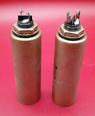 2 QTY ELECTROCUBE  4 MFD @ 1000 VDC Can Capacitor USA