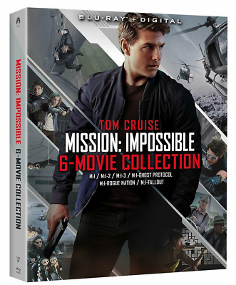 Tom Cruise Mission: Impossible 6 Movie Collection Blu-Ray + Digital Sealed NEW