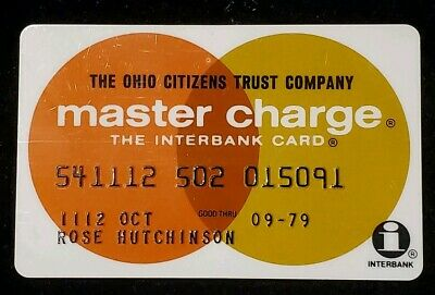 Ohio Citizens Trust Company MasterCharge exp 79♡Free Shipping♡cc353♡credit card