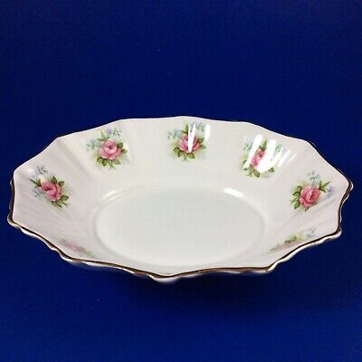 Royal Albert Forget-Me-Not Rose Bone China Oval Sweet Meat Dish