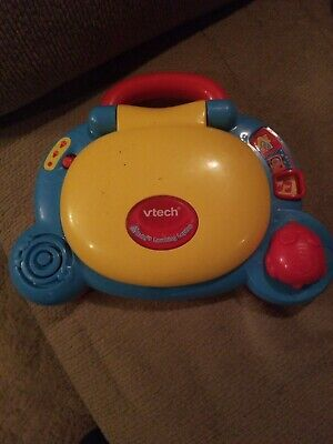 Baby's Learning Laptop Blue VTech Light Up Screen Shapes Music Sounds Words