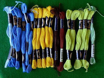 18 skeins ANCHOR stranded embroidery thread – most are new