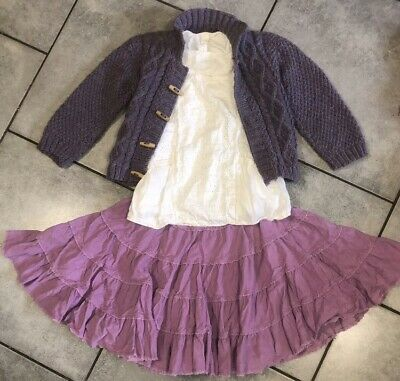 Mini Boden... George Girls Skirt Outfit 5-6 Years Vgc