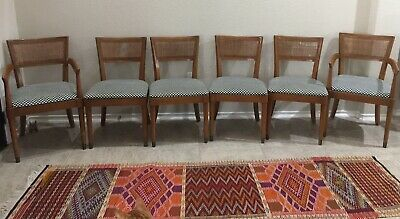Set of 6 Mid Century Modern cane back dining chairs by Drexel