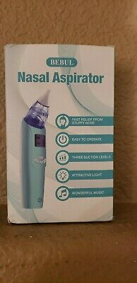 New Bebul Nasal Aspirator electric nose cleaner, open box-cracked carrying case